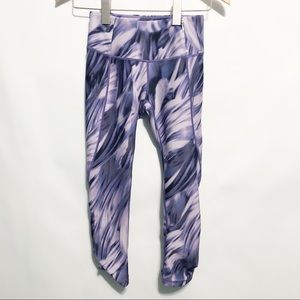 CALIA Purple Swirl Capri Leggings Pants Ruched